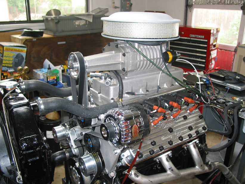 assembled engine was run in on the test stand and installed in my 40 Ford coupe