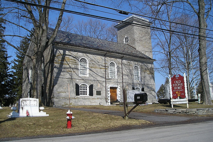 Old Stone Fort and Cemetery in Schoharie, New York